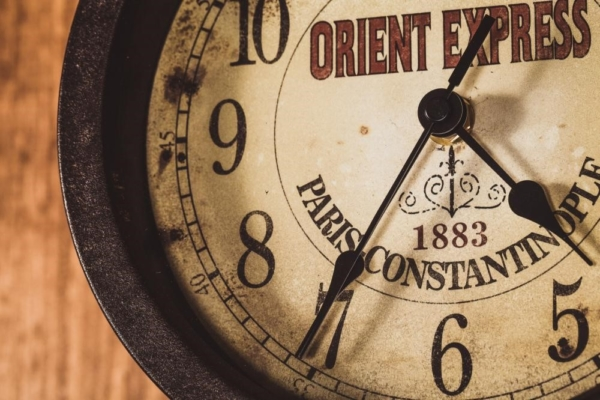 Vintage Clock on Wooden Wall