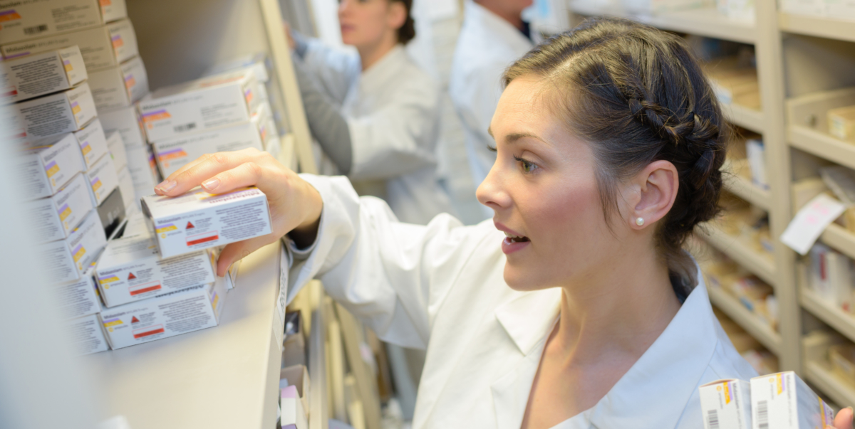 Pharmacist Reading medication